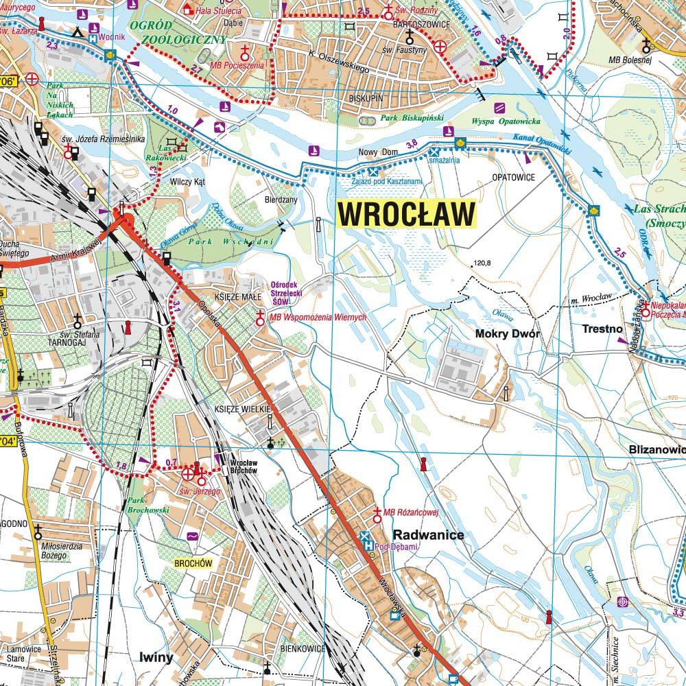 Wrocław and Its Close Vicinity. South-Eastern Part