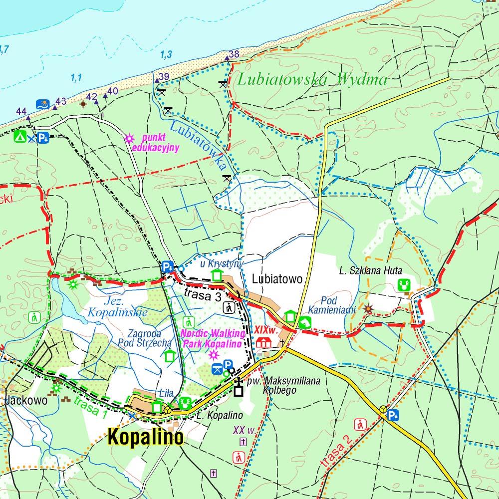 Kaszubskie Wybrzeze Baltyku Mapy Turystyczne Na Telefon Traseo Pl