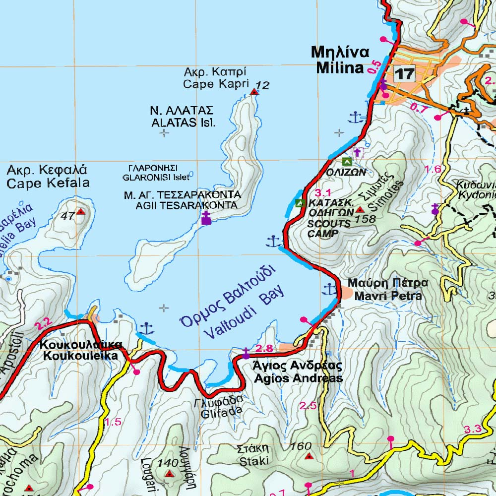 Southern Pilio Palia Trikeri Island Traseo Com Offline Maps