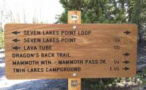 Trail Mileage Sign