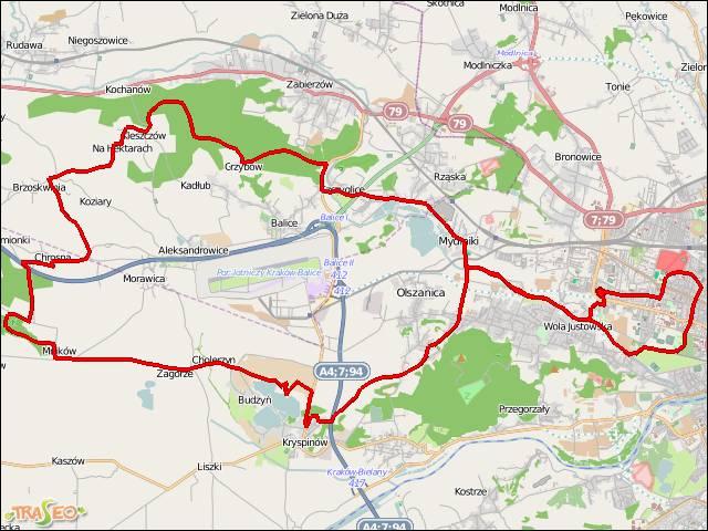 Trasa Rowerowa Kryspinow I Dolina Mnikowska Traseo Pl